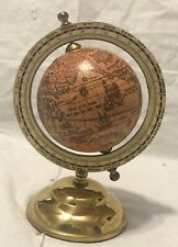 Minature World Globe With Brass Base