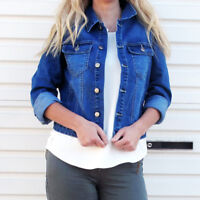 WAKEE WOMEN'S BLUE DENIM JACKET.