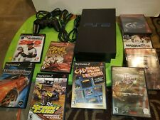 New listing PlayStation 2 Ps2 Fat Console Scph-35001 + 9 Games all Tested very good