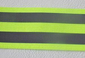 2m x 40mm wide ELASTIC / STRETCH High Viz High Vis Visibility Reflective Tape