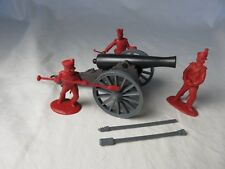 Alamo/Napoleonic 12lb cannon with 3 man crew in red-Classic Toy Soldiers-CTS