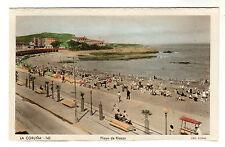Playa De Riazor - La Coruna Photo Postcard c1950s