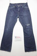 Levi's 516 flare bootcut accorciato jeans usato (Cod.M834) Tg.50 W36 L36