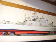 "Vintage 1969 52"" RC Battleship/Destroyer,  boat, military, Vietnam era"