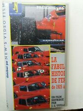 La Fabuleuse Histoire de FERRARI de 1925 à 1987 - video VHS - As new
