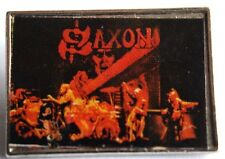 SAXON Original VTG 70/80's Metal Pin Badge nwobhm(not patch shirt lp cd)