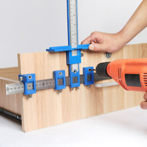 Woodworking Drill Punch Locator Jig Drill Guide Cabinet Handle Knob Punch Tool