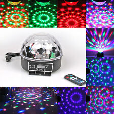 RGB LED Crystal Magic Ball Stage Lighting DMX Remote KTV Party Disco DJ Light
