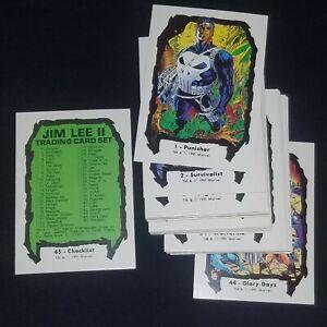 1991 Marvel Jim Lee X-Men Series 2 Trading Cards COMPLETE SET #1-45 Comic Images
