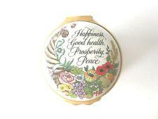 Halcyon Days Enamels Trinket/Pill Box w/Hinged Lid