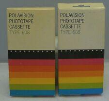 2 Polaroid Polavision Phototape Cassette Type Film 608 Land Player Camera NOS 70