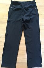 Women's Lucy Athletic Pants Size Small Black Loose Wide Leg Exercise Casual