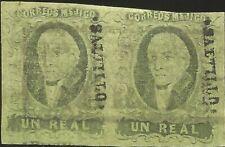 J) 1861 Mexico, Hidalgo, Un Real, Pair, Saltillo District, Parras, Mn
