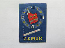 ZEMIR CIGARETTES MATCHES MATCH BOX LABEL c1950s NORMAL SIZE MADE in BELGIUM