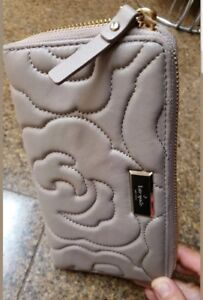 KATE SPADE NEW YORK NY Womens Cream Beige Quilted Wallet