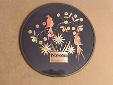Hand made Wood-Straw PARROTS Wall Decor Plaque Russian SOUVENIR 11.5 In