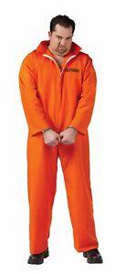 ADULT GOT BUSTED ORANGE JUMPSUIT COSTUME PRISONER