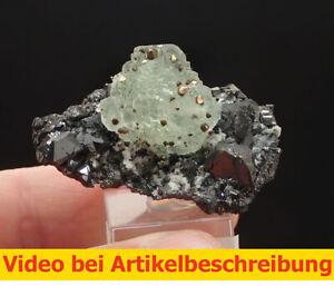 7098 Fluorite Chalkopyrite Sphalerite ca 3*5,5*4 cm Naica Mexico MOVIE