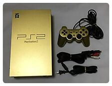 USED PlayStation 2 Z GUNDAM GOLD Pack (Console,Controller,Power cable,AV cable)