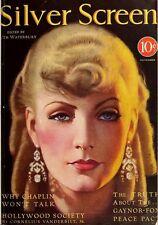 SILVER SCREEN MAGAZINE 85 issues 1930-1940 Silent movie stars advertisement