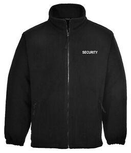 Embroidered SECURITY, Black Full Zip Fleece Jacket, Size XS - 3XL