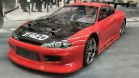 Custom Painted Body NISSAN SILVIA S15 for 1/10 RC Drift Cars Touring HPI 200mm