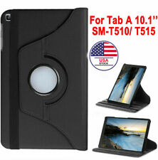 """For Samsung Galaxy Tab A 10.1"""" SM-T510/T515 2019 PU Leather Case 360 Cover Stand"""