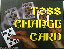 TOSS UP CHANGE CARD BICYCLE Playing Magic Trick Close Up Suit Prediction Throw