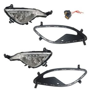 2013-2017 Genesis Coupe OEM Fog Lamps R & L Fog Lights With Covers & Connectors