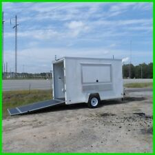6x12 enclosed cargo concession vending trailer 3x6 window New w A/C ready e pkg
