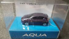 TOYOTA AQUA Light Keychain Purple Metallic Pull Back Mini Car Not sold in stores