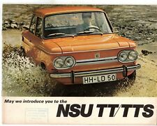 NSU 1200 TT & 1000 TTS 1968-69 UK Market Sales Brochure