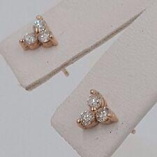 DIAMOND STUD EARRING 0.35 CARAT  14KT ROSE GOLD H SI2