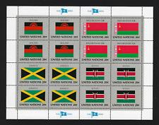 United Nations Stamps — Flag Series: Malawi, Byelorussia, Jamaica & Kenya — MNH