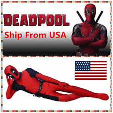 Avengers Halloween Lycra Spandex Full Body Deadpool Cosplay Costume Adult USA