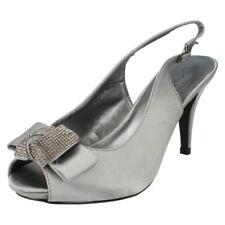 Scarpe da donna grigia con tacco alto (8-11 cm) con fibbia