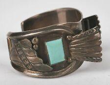 bracelet, watch band - Johnny Pablo Vintage Navajo Sterling huge Turquoise cuff