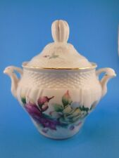 Beautiful   Fine Porcelain Sugar Bowl Roses Decor Anna Peppertree Tabletops