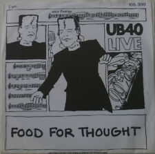 """7"""" 1980 REGGAE LIVE ! UB 40 : Food For Thought /MINT-?"""