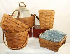 Longaberger Mix lot of baskets of 6 A09