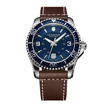 Swiss Army Victorinox 249106 Brand New Men's Maverick Brown Leather Strap Watch