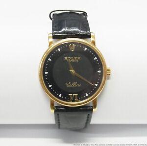 $2900 Rolex 18k Yellow Gold Cellini 5115 Classic Mens Mechanical Wrist Watch