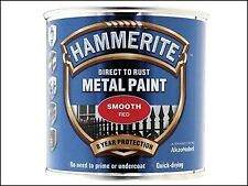 Hammerite Direct to Rust Smooth Finish Metal Paint Red 250ml HMMSFR250