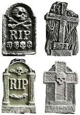 4 x Halloween Tombstones Graveyard Gravestones Headstones Decoration 4SMTMST