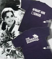 MARY ANN OR GINGER THE ULTIMATE DILEMMA GILLIGAN'S ISLAND TSHIRT BLUE