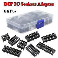 1 Set DIP Integrated Circuit IC Sockets Adapter Solder 6/8/14/16/18/20/24/28 Pin