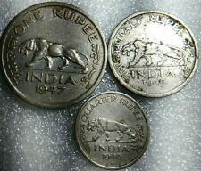 1 rupee set -1,1/2,1/4 rupee set.good condition