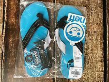 NEFF FLIP FLOPS BLUE SUMMER SHOES MENS SIZE 9 NEW WITH TAGS
