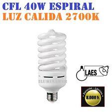BOMBILLA Bajo Consumo LAES CFL 40W E27 2700K Luz Calida Floracion 2700 Lumen