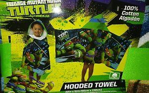 Nickelodeon Teenage Mutant Ninja Towel Hooded New FREE NAME EMBROIDER